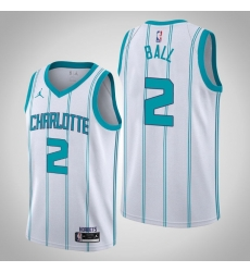 Men hornets lamelo ball white 2020 nba draft first round pick jersey