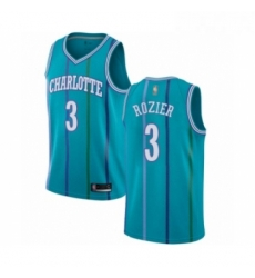 Womens Jordan Charlotte Hornets 3 Terry Rozier Authentic Aqua Hardwood Classics Basketball Jersey