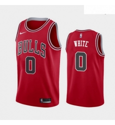 2019 NBA Draft Chicago Bulls #0 Coby White Red Jersey