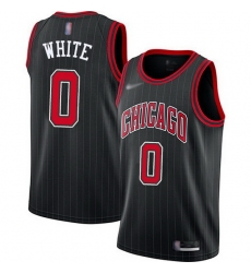 Bulls  0 Coby White Black Basketball Swingman Statement Edition 2019 2020 Jersey