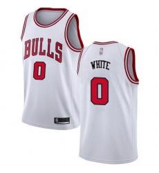 Bulls  0 Coby White White Basketball Swingman Association Edition Jersey