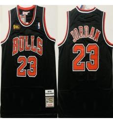 Bulls 23 Michael Jordan Black 1997 98 Hardwood Classics NBA Finals Jersey