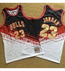 Bulls 23 Michael Jordan Multi Color 1997 98 Hardwood Classics Independent Swingman Jersey