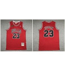 Bulls 23 Michael Jordan Red NBA Finals 1997 98 Hardwood Classics Jersey