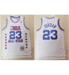 Bulls 23 Michael Jordan White 1989 All Star Hardwood Classics Jersey