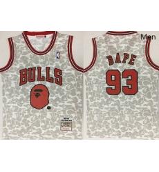 Bulls 93 Bape Gray 1997 98 Hardwood Classics Jersey