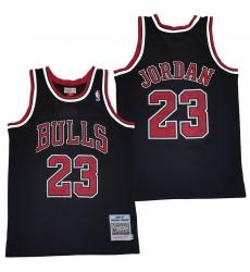Men Chicago Bulls 23 Michael Jordan Black 1996 97 Hardwood Classics Mesh Jersey