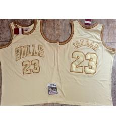 Men Chicago Bulls 23 Michael Jordan Cream 1997 98 Hardwood Classics Jersey