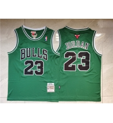 Men Chicago Bulls 23 Michael Jordan Green 1997 98 Hardwood Classics Swingman Jersey