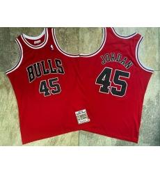 Men Chicago Bulls 45 Michael Jordan Red 1994 95 Hardwood Classics Jersey