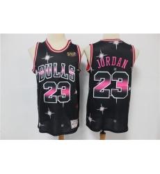 Men Chicago Bulls Michael Jordan 23 Full Stars Black Limited Jersey
