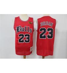 Men Chicago Bulls Michael Jordan 23 Old English Faded Jersey
