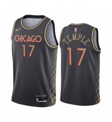 Men Nike Chicago Bulls 17 Garrett Temple Black NBA Swingman 2020 21 City Edition Jersey