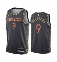 Men Nike Chicago Bulls 9 Patrick Williams Black NBA Swingman 2020 21 City Edition Jersey