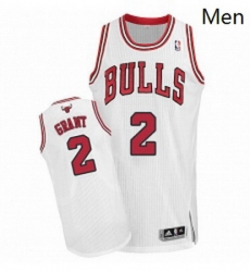Mens Adidas Chicago Bulls 2 Jerian Grant Authentic White Home NBA Jersey