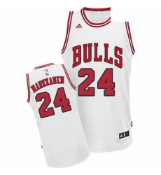Mens Adidas Chicago Bulls 24 Lauri Markkanen Swingman White Home NBA Jersey