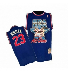 Mens Mitchell and Ness Chicago Bulls 23 Michael Jordan Authentic Blue 1992 All Star Throwback NBA Jersey
