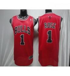 Revolution 30 Bulls 1 Derrick Rose Red Stitched NBA Jerseyey
