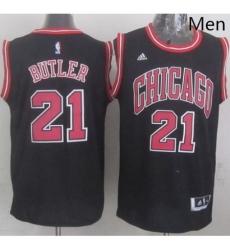 Revolution 30 Bulls 21 Jimmy Butler Black Stitched NBA Jersey