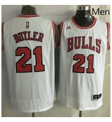 Revolution 30 Bulls 21 Jimmy Butler White Stitched NBA Jersey