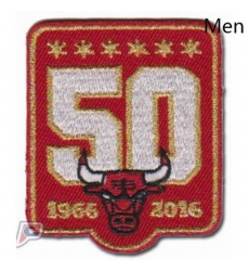 Stitched Chicago Bulls 50th Anniversary Season Logo Red Jersey Patch