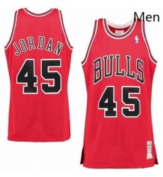 mitchell and ness Chicago Bulls 45 Michael Jordan Red Choose Swingman NBA Jersey