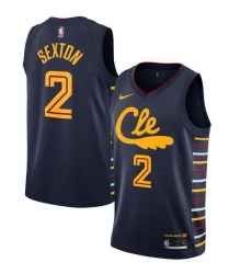 Cavaliers 2 Collin Sexton Black 2019 20 Nike Swingman Jersey