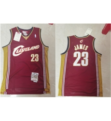 Cavaliers 23 Lebron James Red 2003 04 Hardwood Classics Jersey