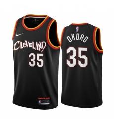 Men Nike Cleveland Cavaliers 35 Isaac Okoro Black NBA Swingman 2020 21 City Edition Jersey