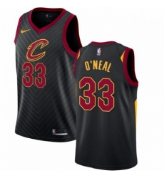 Mens Nike Cleveland Cavaliers 33 Shaquille ONeal Swingman Black Alternate NBA Jersey Statement Edition