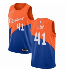 Mens Nike Cleveland Cavaliers 41 Ante Zizic Swingman Blue NBA Jersey City Edition