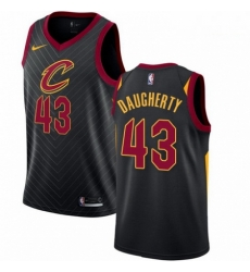 Mens Nike Cleveland Cavaliers 43 Brad Daugherty Authentic Black Alternate NBA Jersey Statement Edition