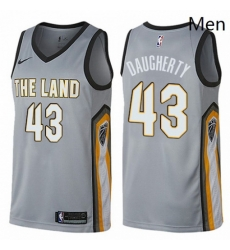 Mens Nike Cleveland Cavaliers 43 Brad Daugherty Swingman Gray NBA Jersey City Edition