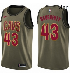 Mens Nike Cleveland Cavaliers 43 Brad Daugherty Swingman Green Salute to Service NBA Jersey