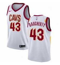 Mens Nike Cleveland Cavaliers 43 Brad Daugherty Swingman White Home NBA Jersey Association Edition