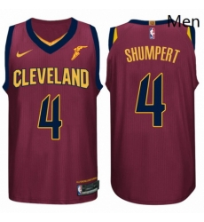 Nike NBA Cleveland Cavaliers 4 Iman Shumpert Jersey 2017 18 New Season Wine Red Jersey