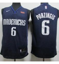 Mavericks 6 Kristaps Porzingis Navy Nike Swingman Jersey