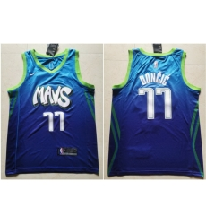 Mavericks 77 Luka Doncic Blue 2019 20 City Edition Nike Swingman Jersey