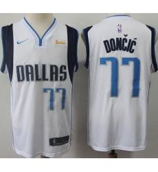 Mavericks 77 Luka Doncic White Nike Swingman Jersey
