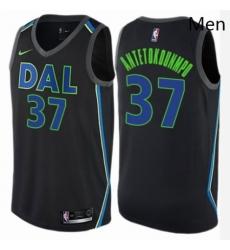 Mens Nike Dallas Mavericks 37 Kostas Antetokounmpo Authentic Black NBA Jersey City Edition