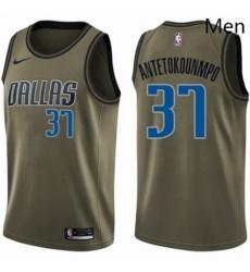 Mens Nike Dallas Mavericks 37 Kostas Antetokounmpo Swingman Green Salute to Service NBA Jersey
