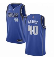 Mens Nike Dallas Mavericks 40 Harrison Barnes Swingman Royal Blue Road NBA Jersey Icon Edition