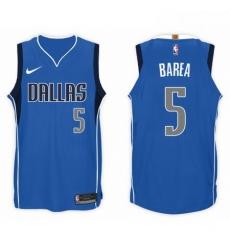 Nike NBA Dallas Mavericks 5 J J Barea Jersey 2017 18 New Season Blue Jers