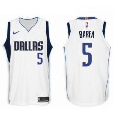 Nike NBA Dallas Mavericks 5 J J Barea Jersey 2017 18 New Season White Jers