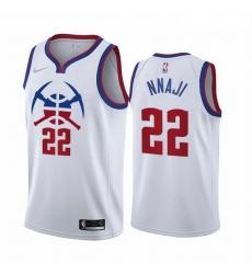 Men Denver Nuggets 22 Zeke Nnaji White NBA Swingman 2020 21 Earned Edition Jersey