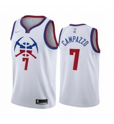 Men Denver Nuggets 7 Facundo Campazzo White NBA Swingman 2020 21 Earned Edition Jersey