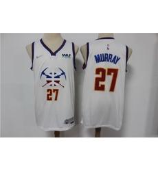 Men Denver Nuggets Jamal Murray 27 White 2020 21 City Edition Nike Swingman Jersey