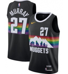 Men Nuggets 27 Jamal Murray Black City Edition Jersey
