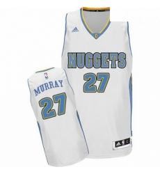 Mens Adidas Denver Nuggets 27 Jamal Murray Swingman White Home NBA Jersey