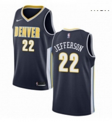 Mens Nike Denver Nuggets 22 Richard Jefferson Authentic Navy Blue Road NBA Jersey Icon Edition